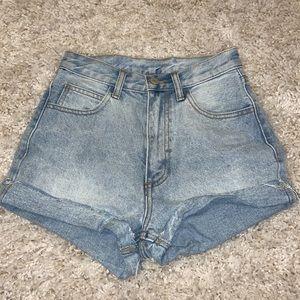Brandy Melville High-Waisted Denim Shorts